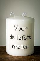 Cilinderkaars hoogte 16cm diameter 12cm